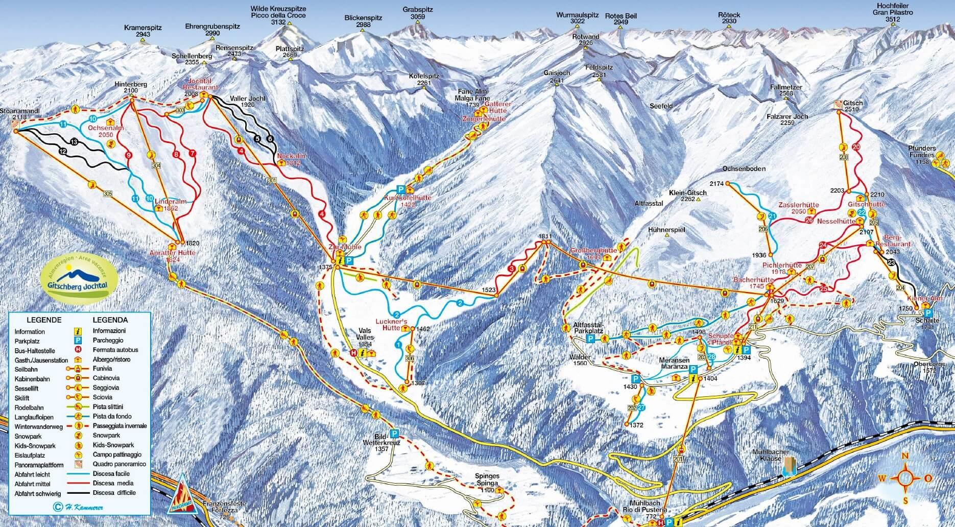 Ski resort Rio di Pusteria Slopes TopSkiResortcom