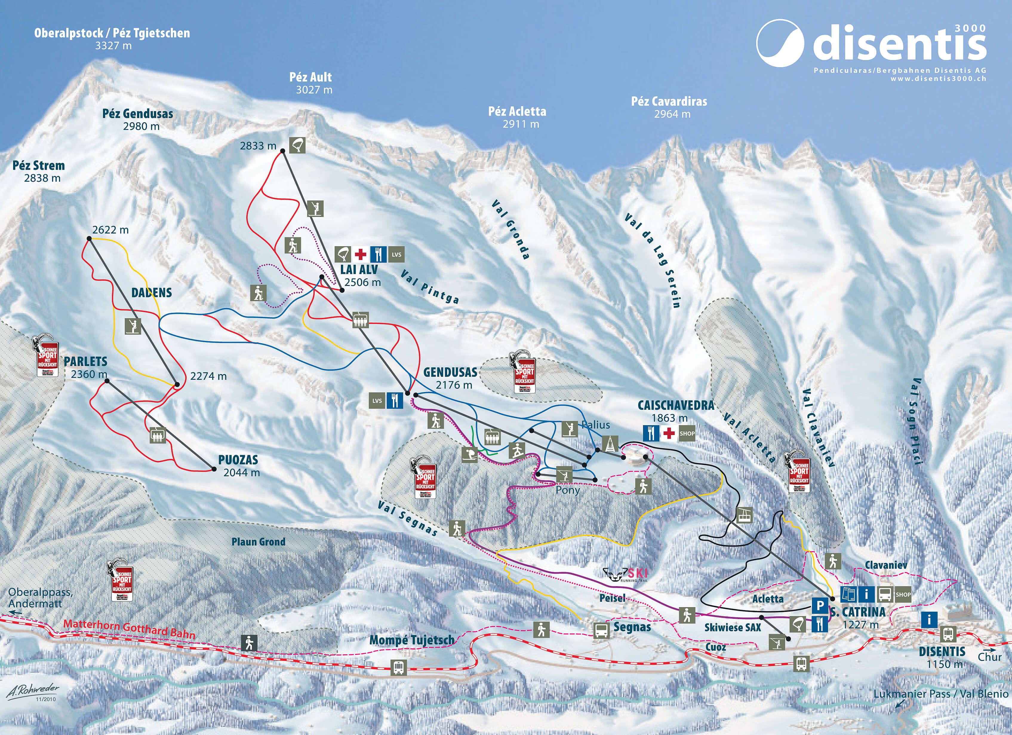 Ski resort Disentis Slopes TopSkiResortcom