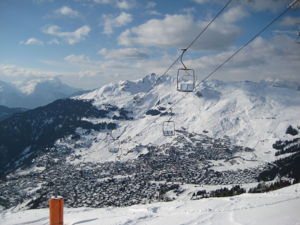 Verbier 4 Vallees skiing