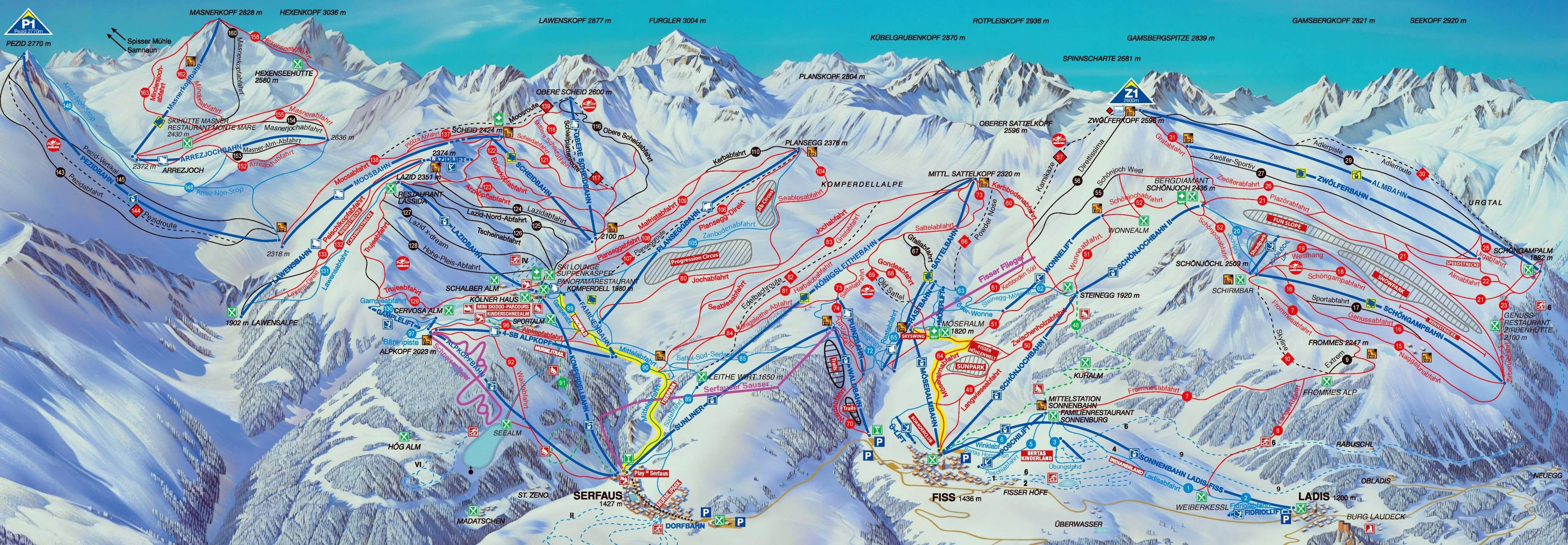 Ski resort Fiss - Slopes - TopSkiResort.com