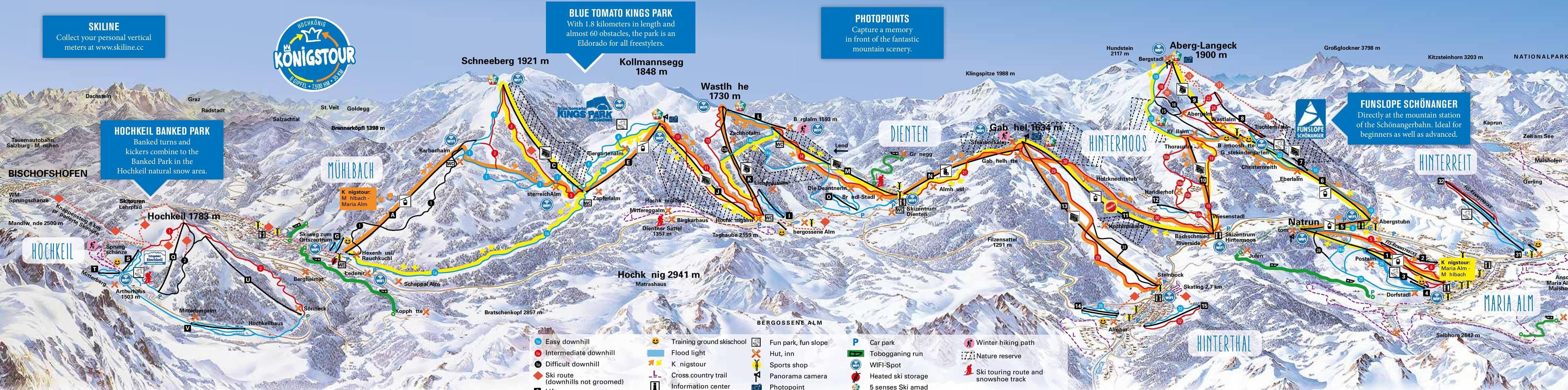 Ski resort Maria Alm - Slopes - TopSkiResort.com